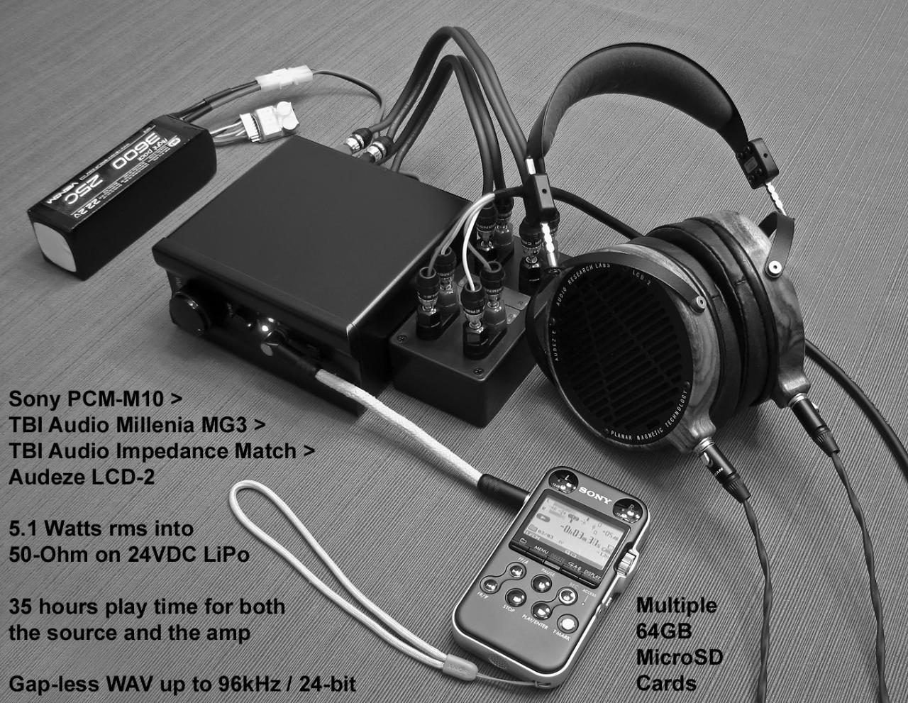 """""""Transportable"""" travel rig, outside the travel case.  44.1/16 and 96/24 WAVs on..."""