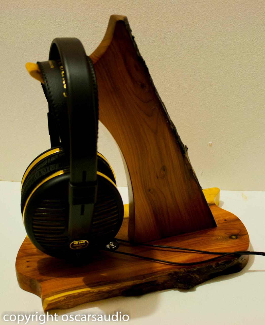 yew headphone stand<br /> www.oscarsaudio.co.uk