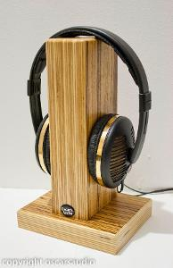 Zebrano headphone stand www.oscarsaudio.co.uk