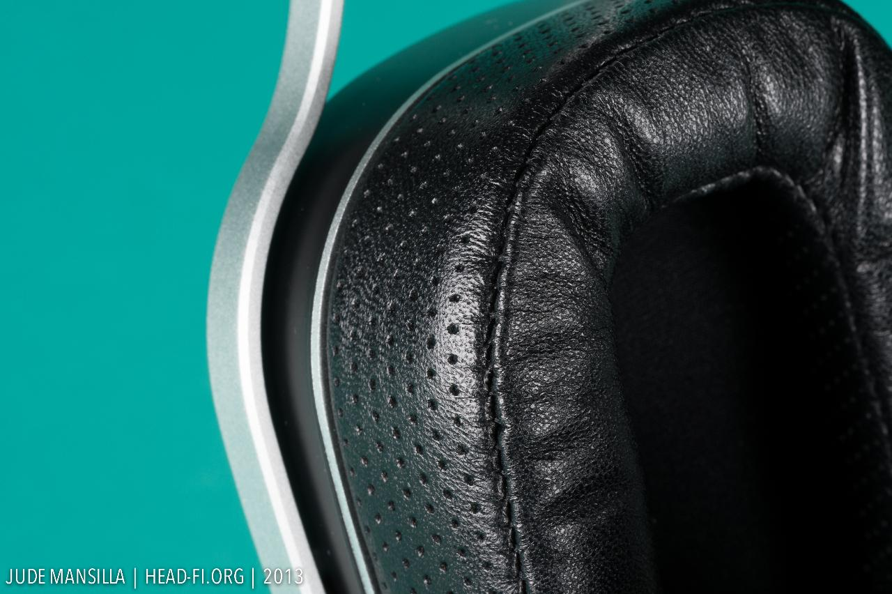 OPPO PM-1 pre-production prototype earpad closeup.