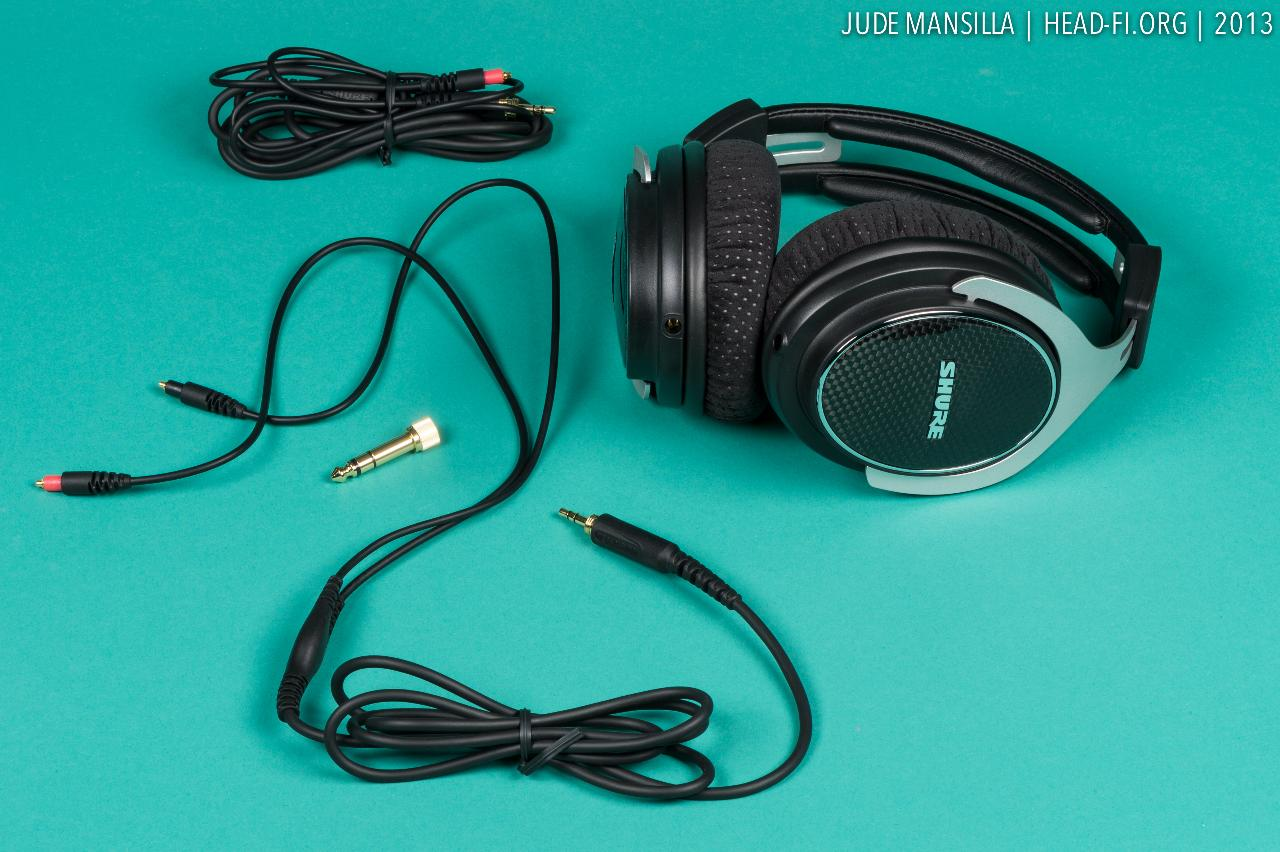 The Shure SRH1540 comes nicely equipped, with two sets of cables, two sets of earpads, a...