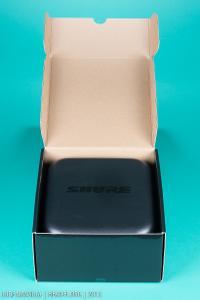 Shure SRH1540 box, opened up, carrying case revealed.