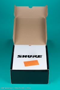 Shure SRH1540 box, opened up.