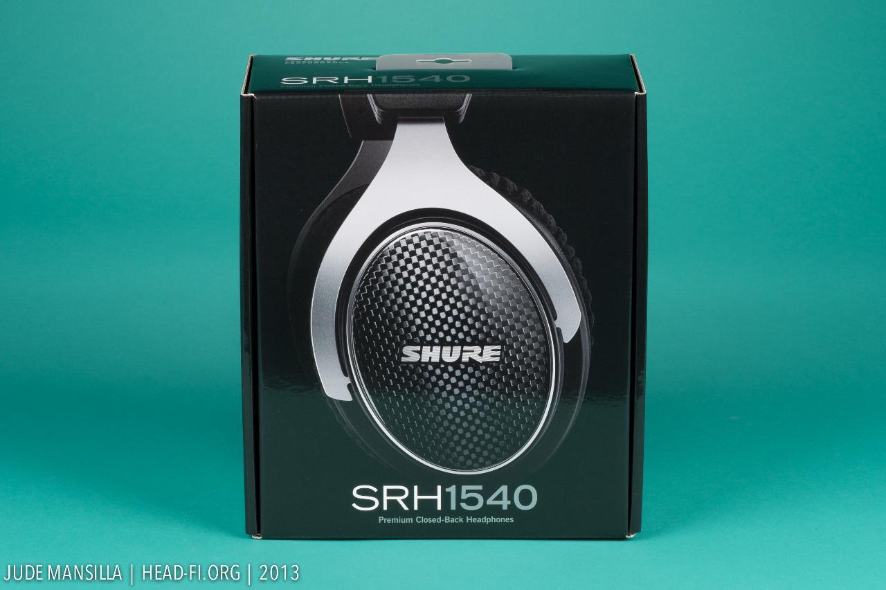 Shure SRH1540 outer carton.