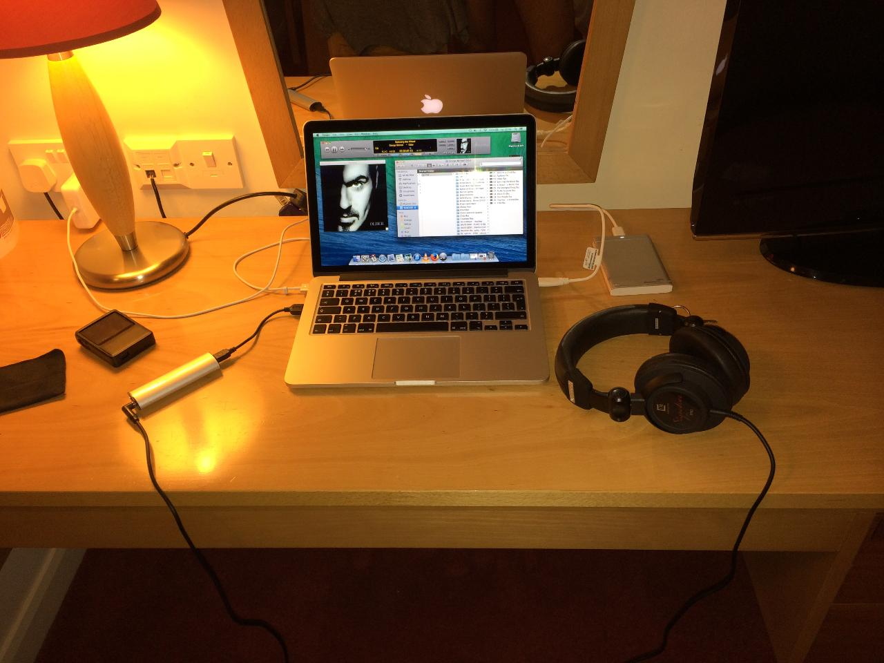 My latest Audio Bliss, Macbook Pro Retina, Meridian Explorer and Ultrasone Sig Pro!!!