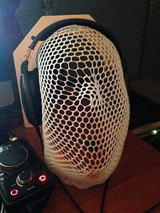 My HD650s on one of my radiation mask headphone rests.