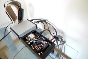 Audioquest Coffee; Audioquest NRG-5 ART-Legato Havana DAC Stax Sr-404LE