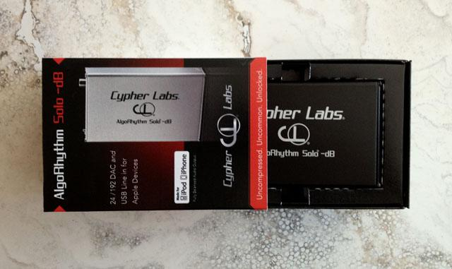 Unboxing Cypher Labs AlgoRhythm Solo -dB DAC for Apple, android and computers. 24/192 capable.