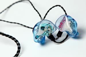 1964 EARS - V3 - Advanced art: Hatsune Miku - Translucent white face plates - Light Blue...