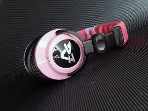 Ultrasone DJ1 Custom and modified: Caps are painted to super glossy pink with polyurethane...