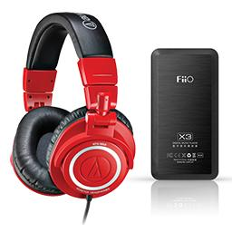 Audio Technica M50 Limited Edition (RED)<br /> FiiO X3 Portable Player + USB DAC