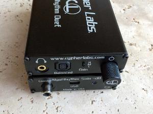 The AlgoRhythm Duet achieves true desktop quality in a portable headphone amplifier.  This amp...