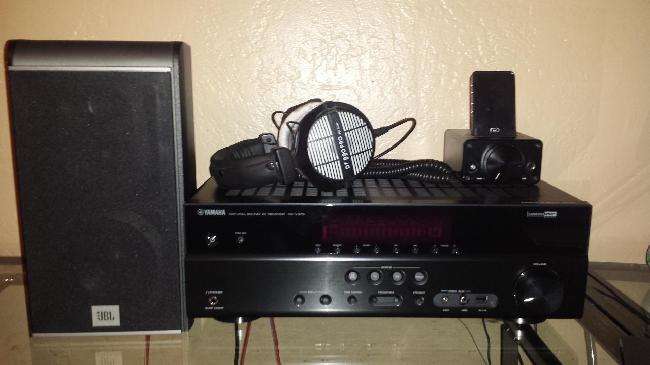 JBL ES20 Bookshelf Speakers Yamaha RX V375 Receiver Fiio E7 DAC