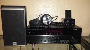 JBL ES20 bookshelf speakers, Yamaha RX-V375 receiver, Fiio E7 DAC, Fiio E9 desktop headphone...