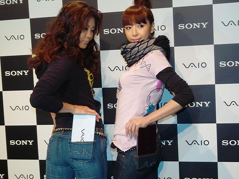 Sony VAIO type P UMPC Notebook Press Event Booth Models Image 1