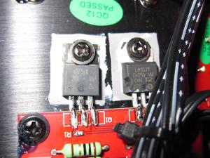 IRF510 mosfet output current buffer LM317 to bias into class A