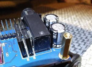 Stock capacitors: Headphone amplifier rail voltage capacitors (Nichicon VZ series, 470uF 25V)