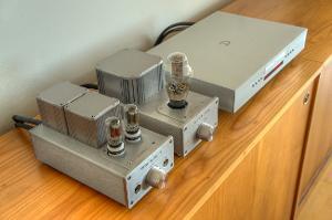 Densen B-410 CD player -> Woo Audio WA6SE (Zenith 6GL7, Sophia Princess 274B)