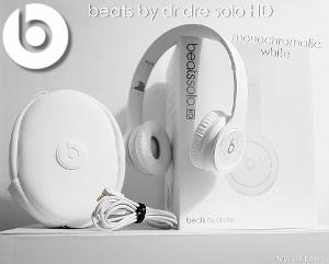 beats by dr dre solo HD monochromatic white