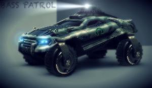 Bass Patrol Armour Assault Vehicle with SONY MDR-XB1000 all timbre terrain wheels