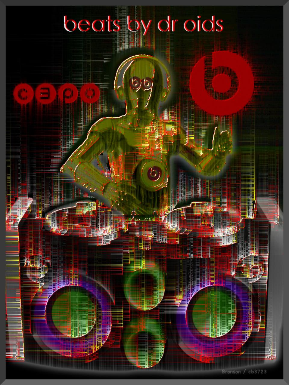 beats by dr oids - beats/starwars photo pop art