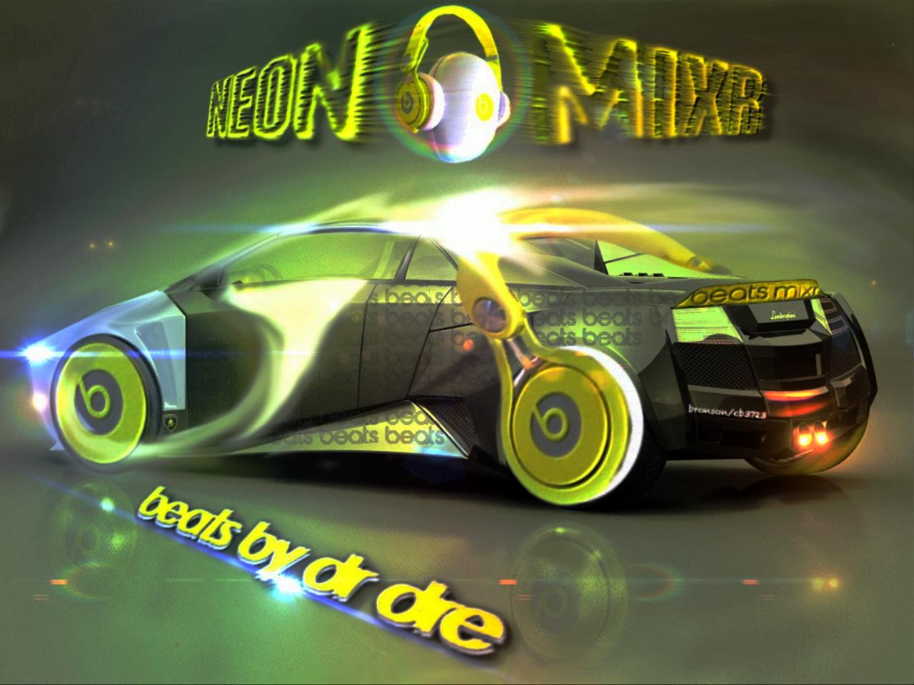beats mixr / Lambourghini photo manipulation art