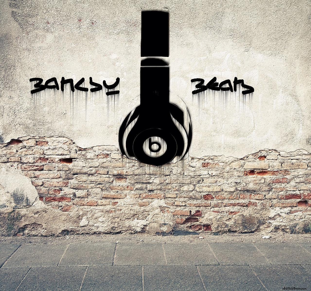 Banksy Beats - photo manipulation pop art