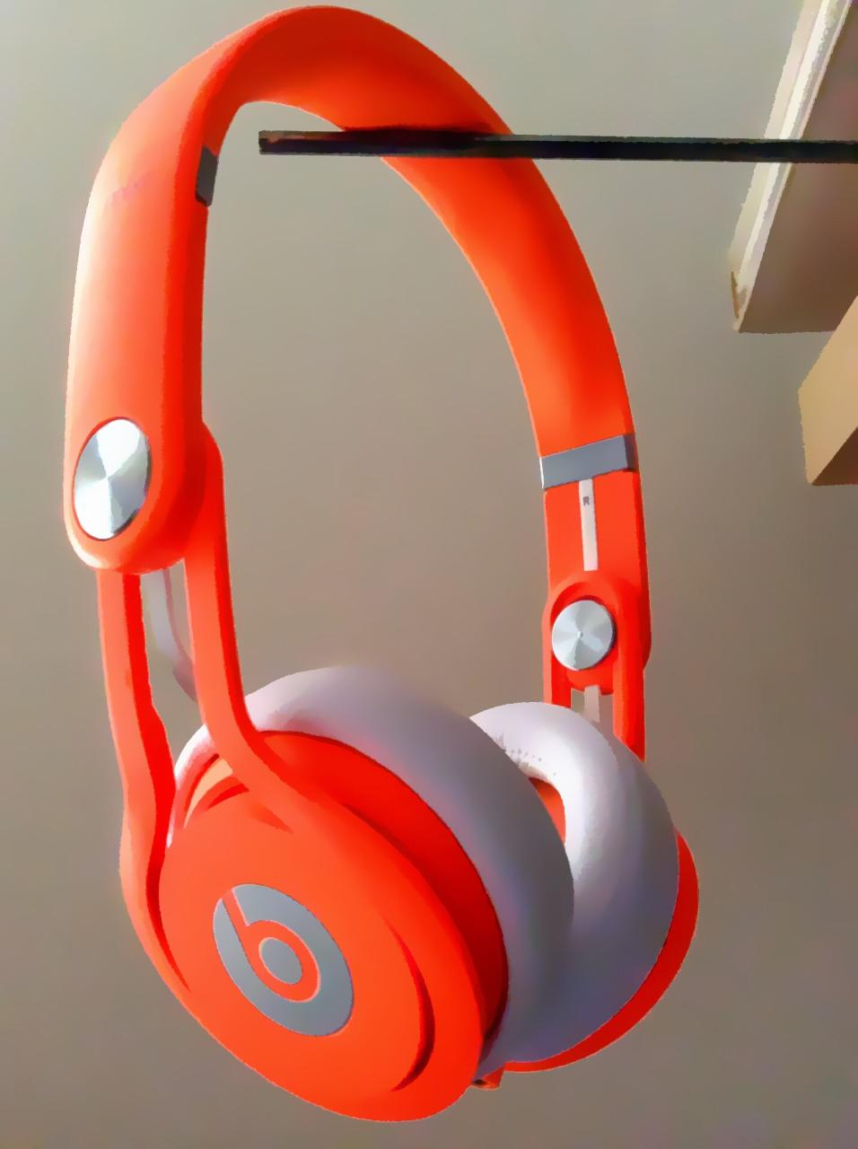 Neon orange mixr beats (with photo hard blur filter)
