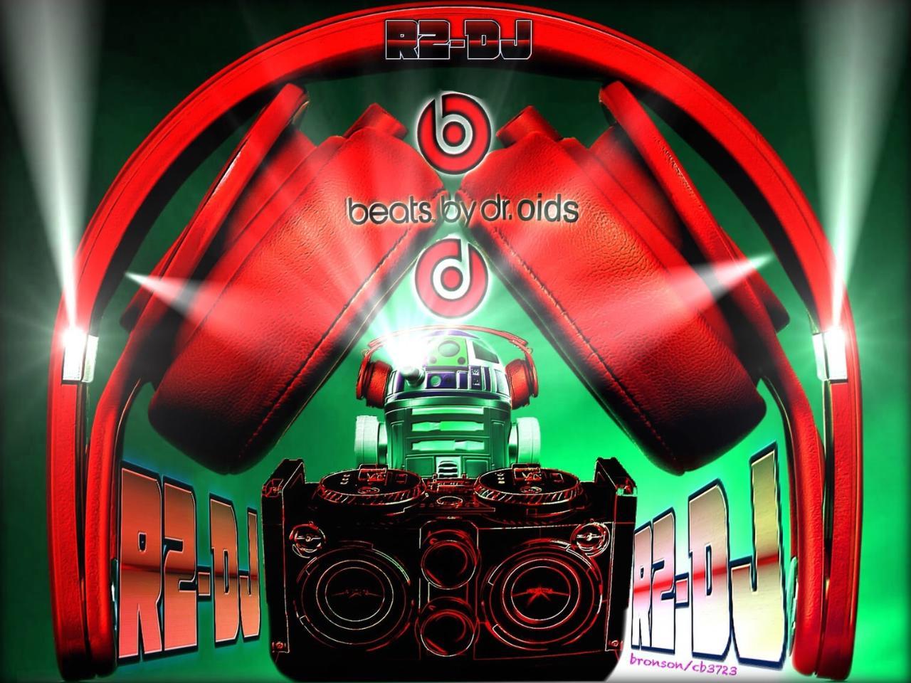 Beats Mixr Red Vs R2 DJ version 2 photo manipulation pop art