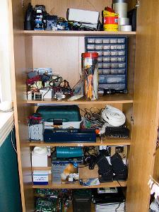 My parts cabinet