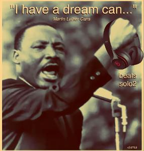 I have a dream can (Martin Luther Cans) new beats solo2 headphones - photo manipulation pop art