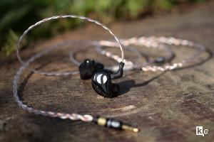 rhines custom Stage in-ear monitor with FAW Hybrid cable