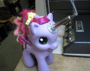 "The ""My Little Pony"" soldering iron, courtesy of Boing Boing."