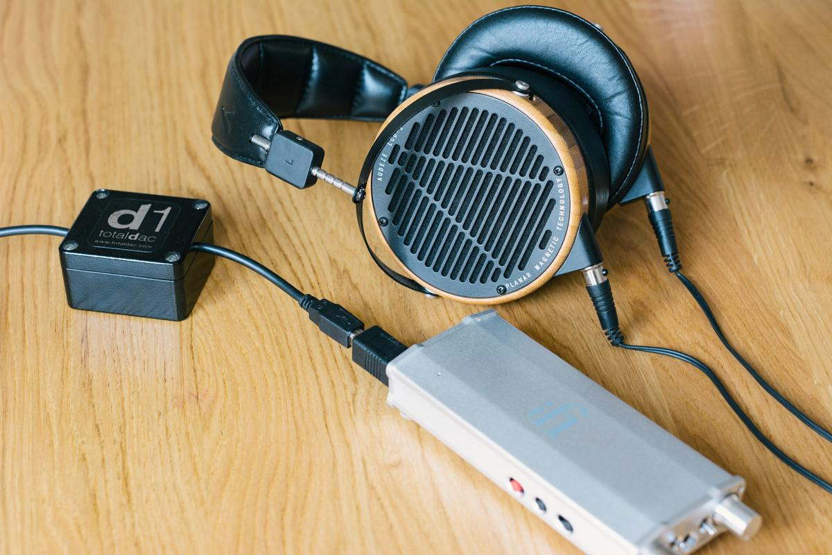 iFi's meaty micro iDSD plays very nice with a TotalDAC D1 usb cable and some Audeze's