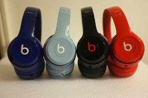 Beats solo2 - navy blue, grey, black and red