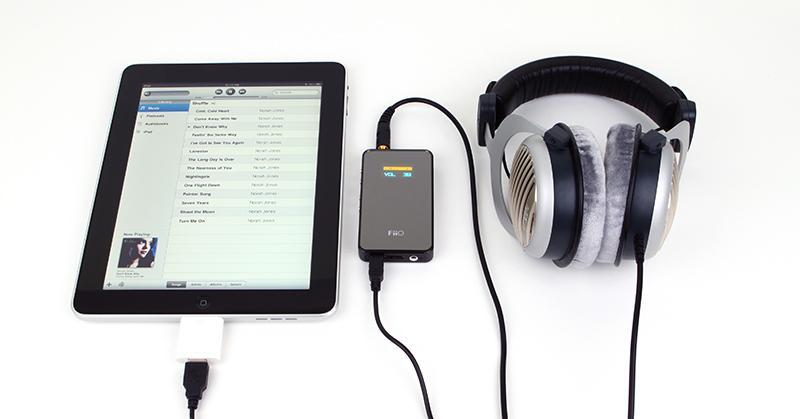 FiiO E7 works as USB DAC with iPad
