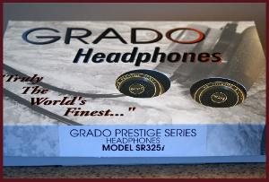 Grado SR 325i. Modified with Headphile Blacksilver cable and wooden Y & plug and J$ leather...