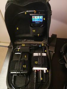1. External battery Energizer XP8000A. 2. Step down power converter 19V->15V XPAL WI15. 3....
