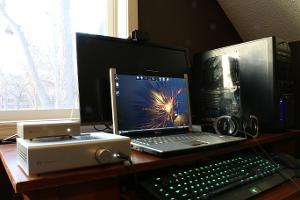 Laptop setup.