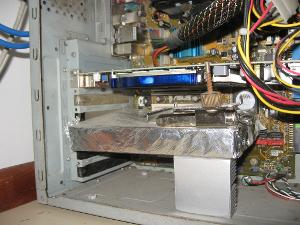 "The soundcard is inside the silver box (the ""Faraday´s cage"")"