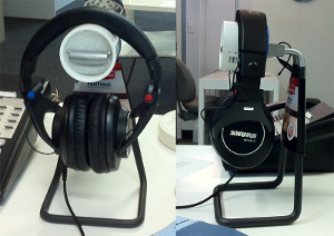 Tool rack headphone stand with modifications