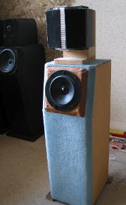 Speaker prototype with ribbon transducer (600–25,000 Hz)