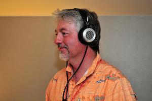 Todd Green (of TTVJ) wearing the Grado HF-2