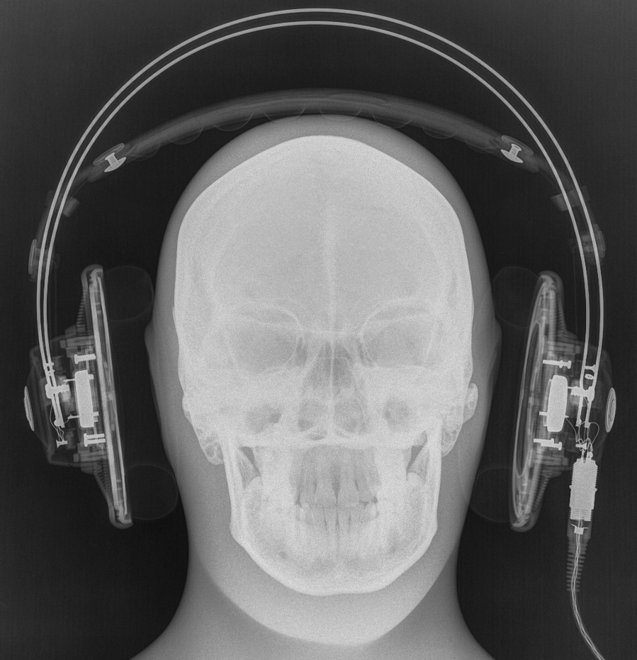 High-tech image of a headache in the making. It's a skull wearing the Q701! This is one of...