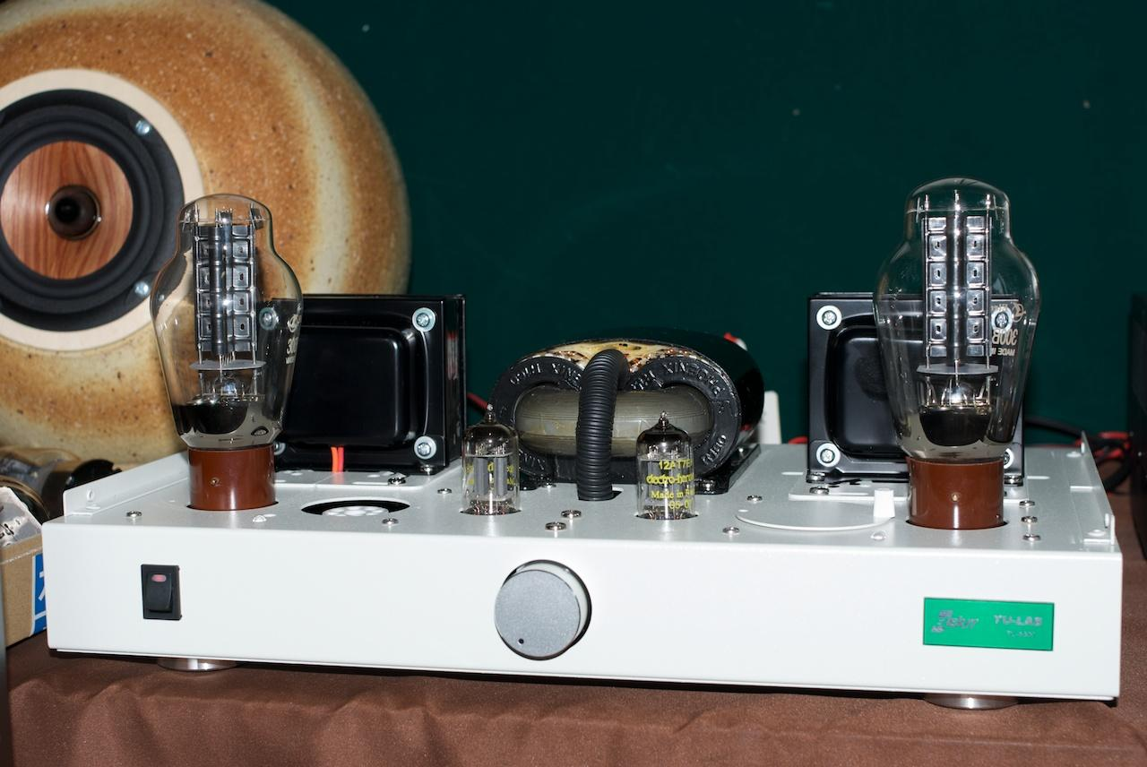 300B tubes in an Elekit amp.