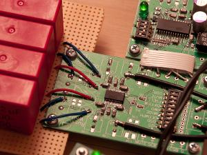 you may notice that there are no caps on the top of the board, that's because I used Sanyo SEPC...
