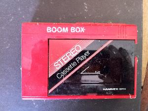"""Boom Box cassette player from the early 90's. This was my first ever """"portable rig""""...."""