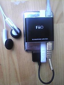 3rd generation ipod nano 8gb with sennheiser mx-760 and fiio E5 amp. (Yeah I`m new-LOL)...