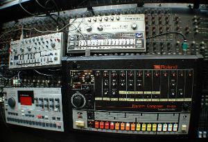 Vintage Roland Drum Machines, in the studio