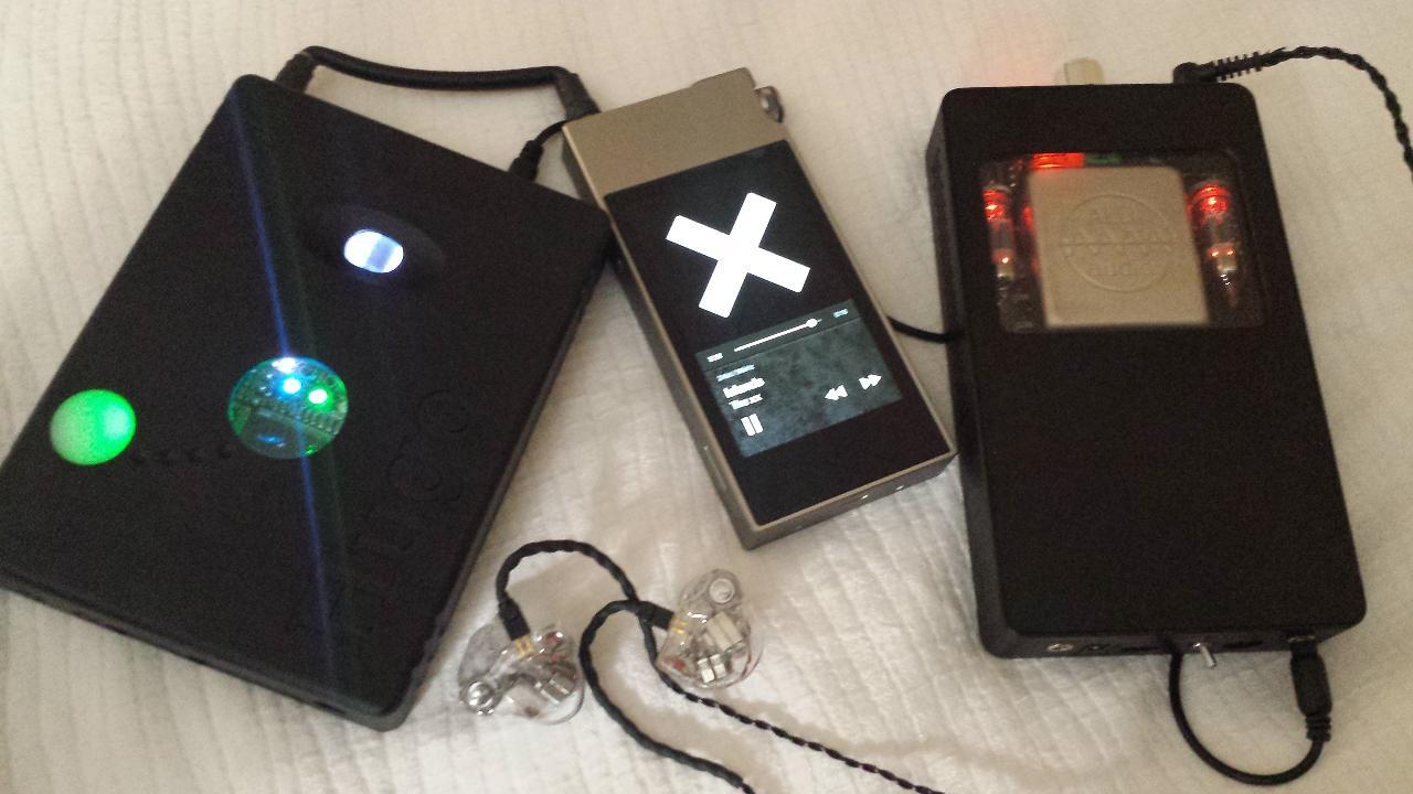 Ak120ii ---> Chord Hugo ---> ALO CDM ---> 64 Audio A12s with MAMs